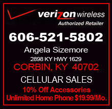 Verizon Wireless Cellular Sales Corbin Ky